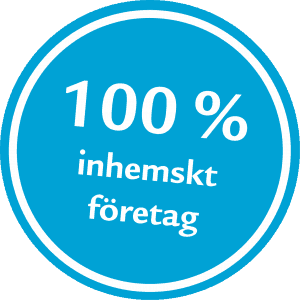 100 % Inhemskt företag